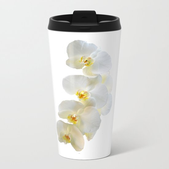 orchid Metal Travel Mug
