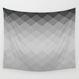 Black and white rombs pattern Wall Tapestry