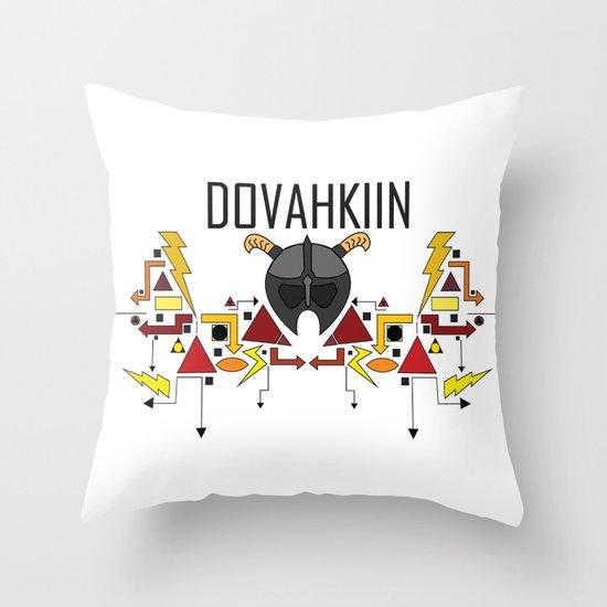 Skyrim: The Dovahkiin - RED (Skyrim) Throw Pillow