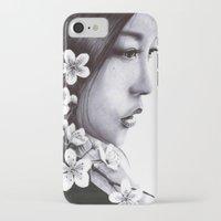 sakura iPhone & iPod Cases featuring Sakura by Nester Formentera