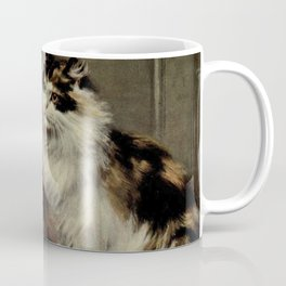 Vintage Painting of Fluffy Cats (1902) Coffee Mug