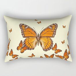 MONARCH BUTTERFLY SWARM Rectangular Pillow