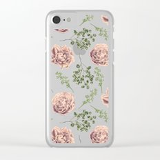Secret Garden Pink and Green Clear iPhone Case