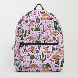 Cute Fennec Fox Pattern Backpack
