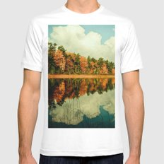 Birth of a Cloud MEDIUM White Mens Fitted Tee