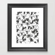 Typographic print Framed Art Print