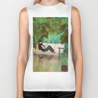 jungle Biker Tanks featuring jungle by Lara Paulussen