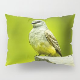 Eye Catching Western Kingbird by Reay of Light Photography Pillow Sham