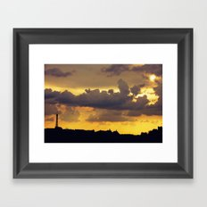 Sunset over Paris Framed Art Print