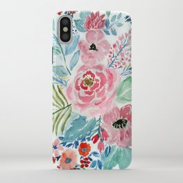 Pretty watercolor hand paint floral artwork. iPhone Case