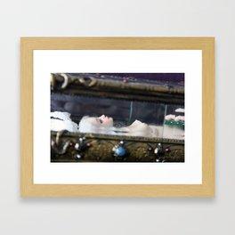 Surrea in her glass casket Framed Art Print