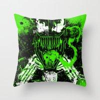 venom Throw Pillows featuring Venom by TheAsmek