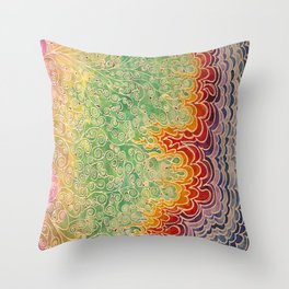 Vines and Flames Throw Pillow