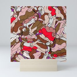 Chocolate Valentine Red Human Slugs Mini Art Print
