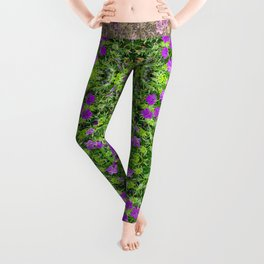 "TRUE SPECIE HARDY GERANIUM ""TINY MONSTER"" Leggings"