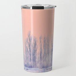 pastel winter landscape #society6 #decor #buyart Travel Mug