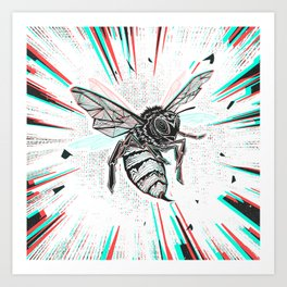 This wasp is pissed! Art Print