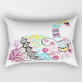 Patterned Swan Rectangular Pillow