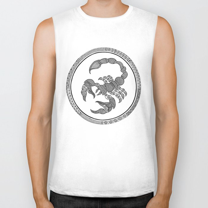 Zodiac Sign Scorpio Biker Tank