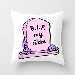 R.I.P. My Fucks Throw Pillow