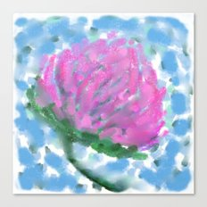Pink Clover Flower Canvas Print