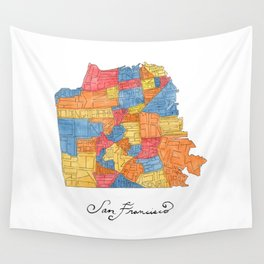 San Francisco Neighborhoods Wall Tapestry
