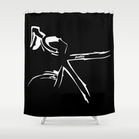 bike Shower Curtains featuring Bike by Pedlin