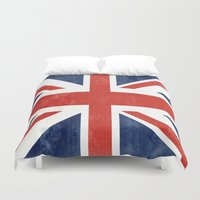 union jack Duvet Covers featuring Union Jack by Laura Ruth