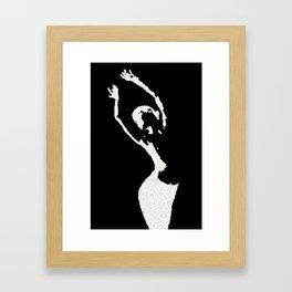 nude bw Framed Art Print