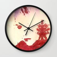 roald dahl Wall Clocks featuring Bewitching by Geni