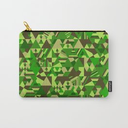 Colourful triangular mosaic in the nuance of green Carry-All Pouch