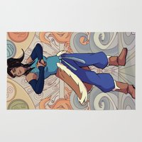 avatar the last airbender Area & Throw Rugs featuring The Avatar Korra by garciarts