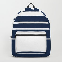 White blue striped pattern . Backpack