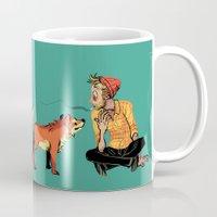 musa Mugs featuring pet the dog by musa