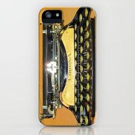 corona vintage typewriter iPhone Case