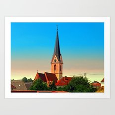 The village church of Allhaming I | architectural photography Art Print