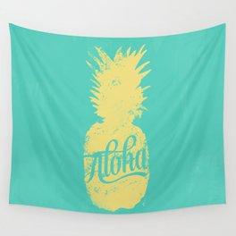 ALOHA - Pineapple print Wall Tapestry
