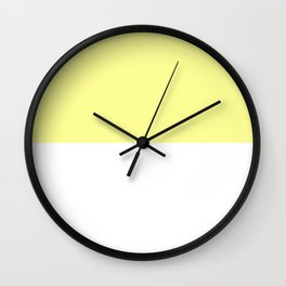 White and Pastel Yellow Horizontal Halves Wall Clock
