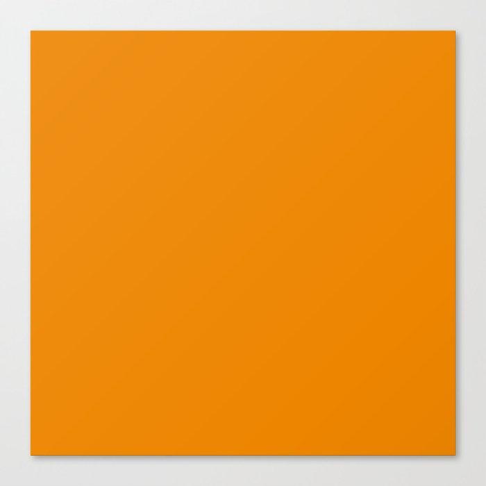 Simply Tangerine Orange Canvas Print