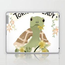 Crazy Tortoise Lady Laptop & iPad Skin