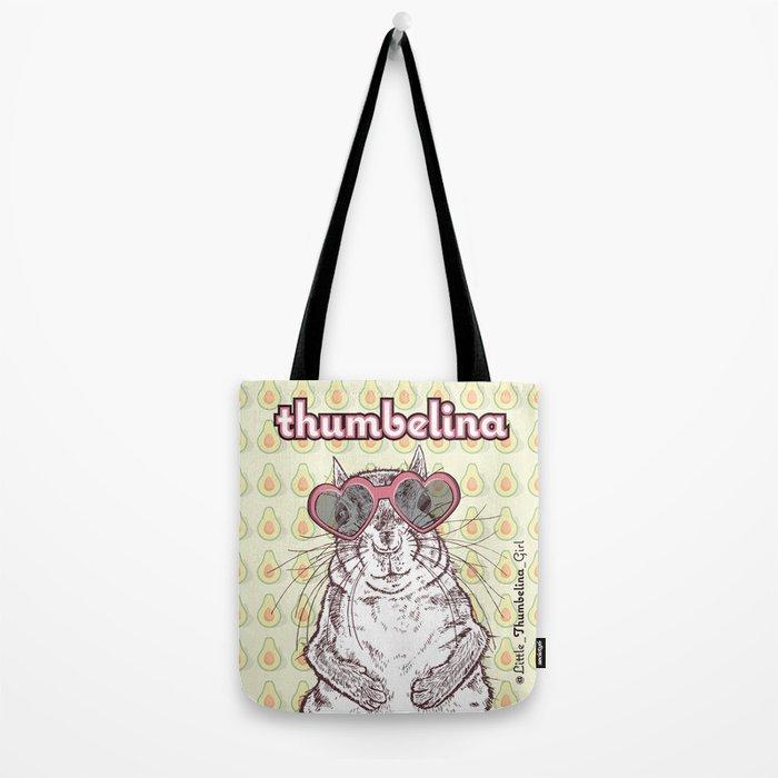 Little Thumbelina Girl: heart sunnies Tote Bag