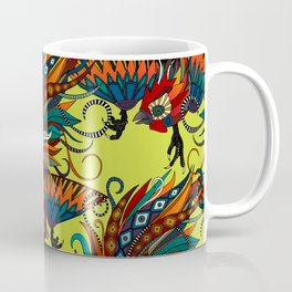 rooster ink chartreuse Coffee Mug
