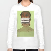 aladdin Long Sleeve T-shirts featuring Taped Over Aladdin Sane by AudioVisuals