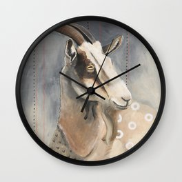 Goats Are Nuts Wall Clock