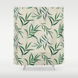 Watercolor seamless pattern on vintage paper. Shower Curtain