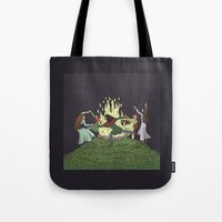 kindle Tote Bags featuring Fairy Dance by Richard Fay