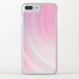 Peach Sound Waves Clear iPhone Case
