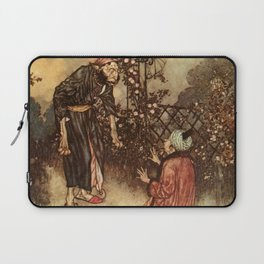 He Dropped The Rose by Edmund Dulac Laptop Sleeve