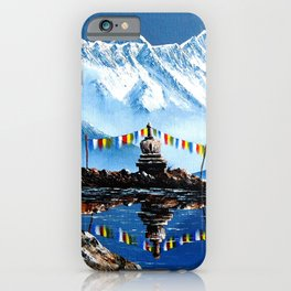 Panoramic View Of Annapurna Mountain Nepal iPhone Case