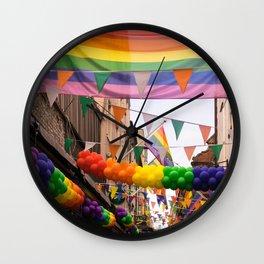 LGBT Pride Street Scene Wall Clock